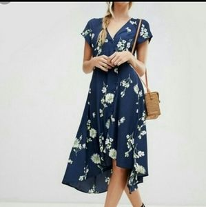 Free People Lost In You Floral High Low Ma…